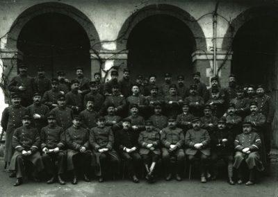 Photo de groupe dans les anciens haras